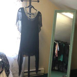 Free people black shear cocktail dress